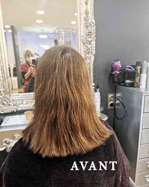 coupe courte femme structuree meches coiffeur coloriste AVANT